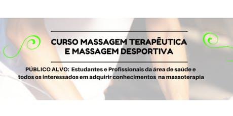 Curso Massagem ingressos