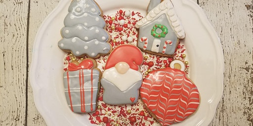 J&D Cellars Winter Sip and Decorate cookie class