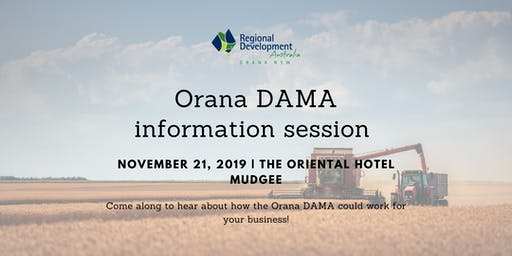 Orana DAMA Information Session Mudgee