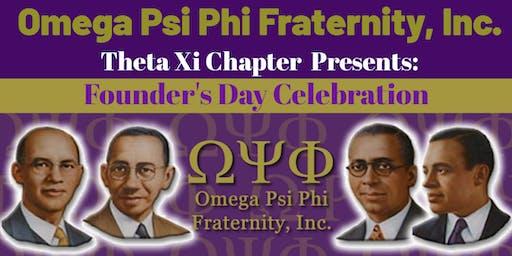 Omega Psi Phi: Theta Xi Founders Day Celebration