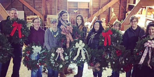 Wreath Making Class at The Barn