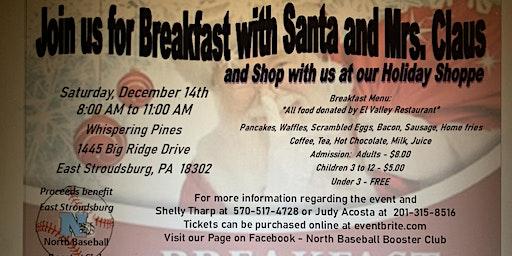 North Baseball Breakfast with Santa and Holiday Shoppe