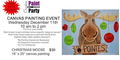 Christmas Moose -- Wednesday, December 11th  10 am