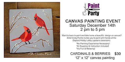 Cardinals & Berries -- Saturday, December 14th  2 pm