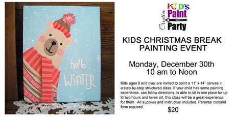 Kids Christmas Break Painting Event-- Monday, Dec. 30th  10 am tickets