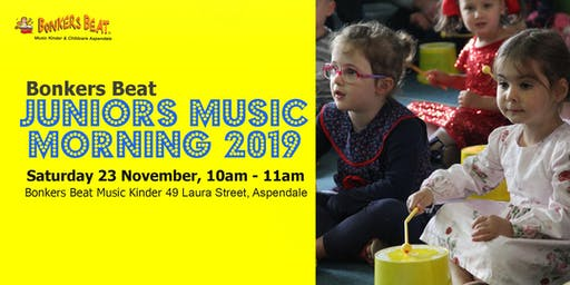 Bonkers Beat Juniors Music Morning 2019