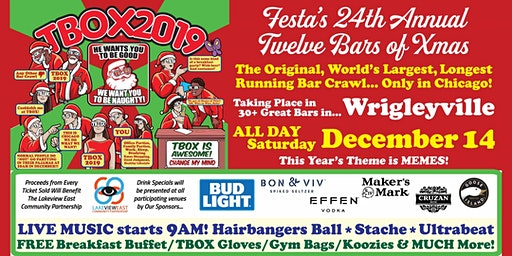 TBOX 2019, The  Chicago 12 Bars of Xmas Bar Crawl