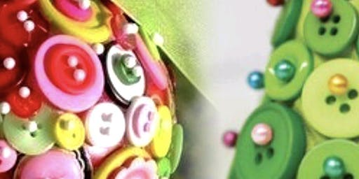 Adult Christmas Button and Jewel Crafts