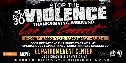 LIVE PERFORMANCE MONEYBAGG YO & TANGERAY MAJOR STOP THE VIOLENCE CONCERT