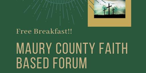 Maury County Faith Based Forum