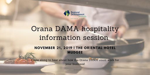 Orana DAMA Hospitality Information Session Mudgee