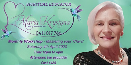 April Monthly Workshop - Mastering your 'Clairs' tickets