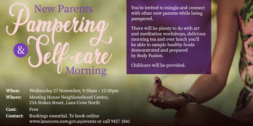 New Parents Pampering & Self-care Morning