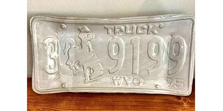 Wyoming License Plate Dish (12-12-2019 starts at 6:00 PM) tickets