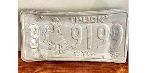 Wyoming License Plate Dish (03-20-2020 starts at 6:00 PM)