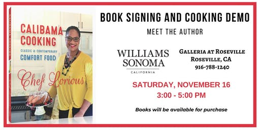 Calibama Cooking Cookbook Signing & Cooking Demo