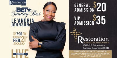 Le'Andria Johnson Live in Denver