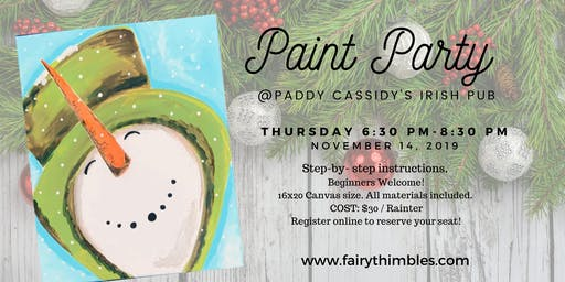 Paint Party @ Paddy Cassidy's Irish Pub