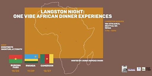 LANGSTON Night: One Vibe African Dinner Experiences
