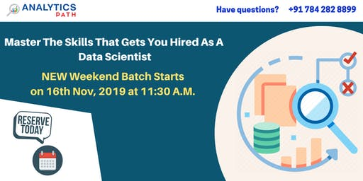 Data Science New Weekend Batch Starts On 16th Nov, 11:30 AM At AP