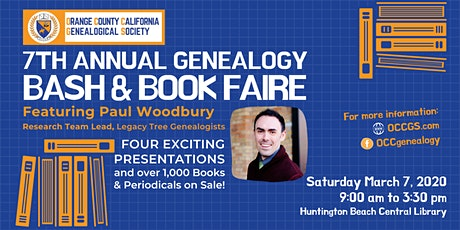 7th Annual OCCGS Genealogy BASH and Book Faire tickets
