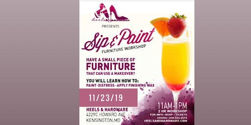 Sip & Paint Furniture Workshop