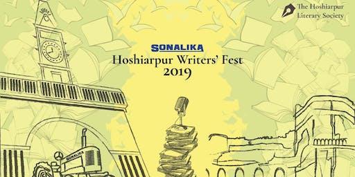 SONALIKA HOSHIARPUR WRITERS' FESTIVAL 2019