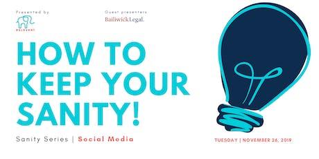 Business Sanity Series | Social Media tickets
