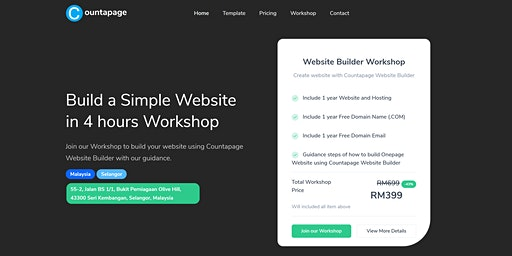 Onepage Website Creation Countapage Workshop