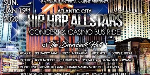 Atlantic City Hip-Hop All-Stars Concert and Casino Bus Ride