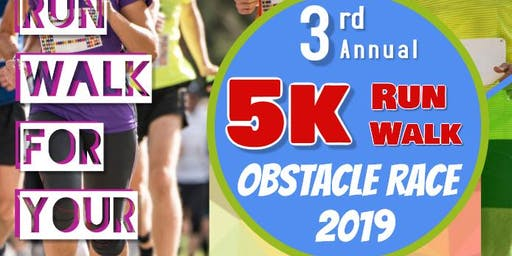 3rd. Annual 5K Obstacle Race and Walk 2019