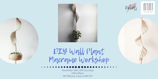 Wall Plant Macrame Workshop