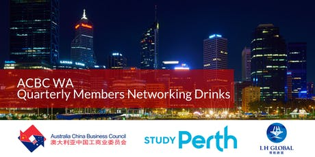 ACBC WA Quarterly Members Networking Drinks - StudyPerth & LH Global tickets
