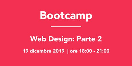 Bootcamp: Web Design Parte 2 tickets