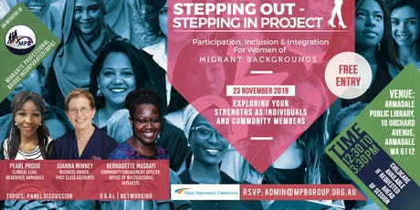 """""""Stepping Out - Stepping In"""" - Panel Event tickets"""
