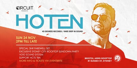 Sydney Sundown Rooftop Party featuring 'Hoten' tickets