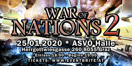 UKWA WAR OF NATIONS 2 Tickets