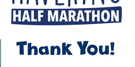 Havering Half Marathon Thank You Celebration