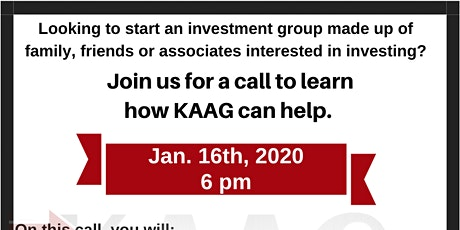 Investor Relations Call- Interested in starting an investment group tickets