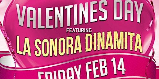 Valentines Day with La Sonora Dinamita full band from Colombia. Dia de los Enamorados
