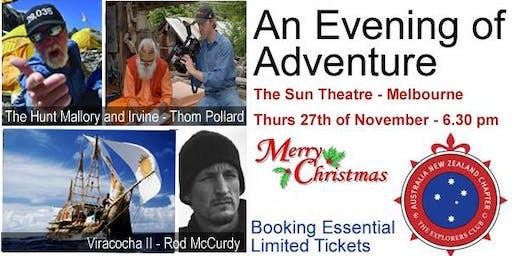 The Explorers Club's Melbourne Christmas Evening of Adventure