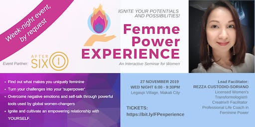 Femme Power EXPERIENCE (Last Batch for 2019!)