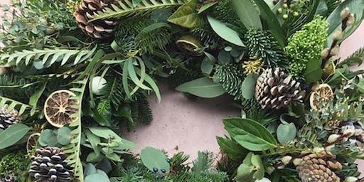 Val  Kenyon's Christmas Door Wreath Workshop at The Pavilion Rimington