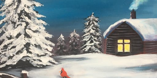Christmas Paint Party Event 'Winter Hideaway' at Greystones, SAWTRY, Cambs