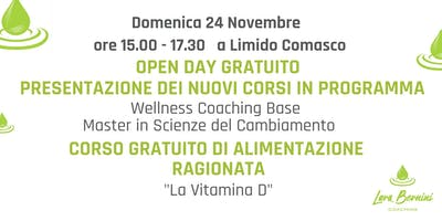 OPEN DAY GRATUITO LARA BERNINI COACH