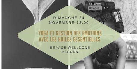 Atelier yoga et gestion des émotions avec les huiles essentielles billets