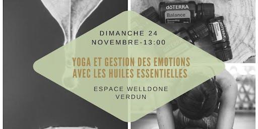 Atelier yoga et gestion des émotions avec les huiles essentielles