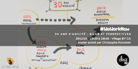 30 ans d'agilité : bilan et perspectives billets