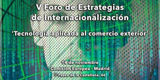 V Foro de Estrategias de Internacionalización