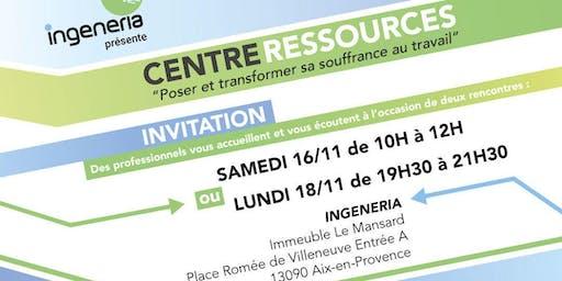 """Centre Ressources - """"Poser et transformer sa souffrance au travail"""""""